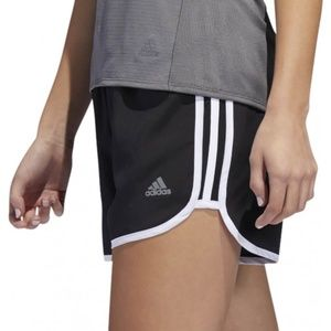 "Sz M Adidas 3 Stripes Shorts Black White 3"" NEW"